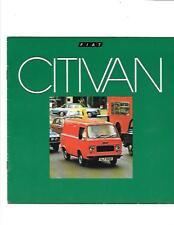 FIAT 900 T CITIVAN sales brochure juin 1977