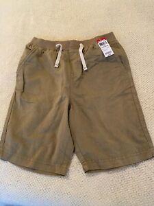 Boys 10/12 Pull On Linen Shorts NEW