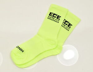 Hincapie Electric City Endurance Cycling Socks Small Neon Yellow 3 Pair CLOSEOUT