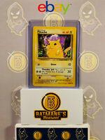 Pikachu 58/102 LP Played E3 Stamp Yellow Cheeks Base Set Non-Holo Pokemon