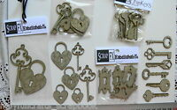 CHIPBOARD Die Cuts Mixed  Key Shapes - 3 Styles Scrap FX Choice T