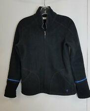 Ibex Black New Zealand Merino Wool Zip Jacket Women's S