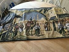 """vintage tapestry wall hanging 40""""x 22"""""""