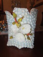 Antique Flower Encrusted Jacob Petit/Snowball Old Paris Vase