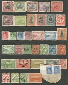 PAPUA  NEW GUINEA FROM CIRCA 1907  USEFUL USED COLLECTION WITH VALUES TO £1.00