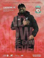 Liverpool v Aston Villa Official Match Programme 2019/2020 - 5th July 2020