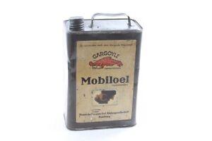 Old Öldose Collector Gargoyle Oil Canister Can True Vintage Advertising