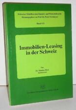 Hess, Markus, Dr. Immobilien-Leasing in der Schweiz