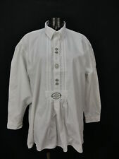 Gr.L Trachtenhemd Hemd Gede weiß Baumwolle Edelweiß Stickerei TH1288