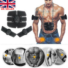 Gear Muscle Trainer Massage Body Abdominal Arm Fit Slim ABS Sticker Exercise Gym
