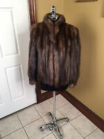 LOUIS FERAUD DESIGNER WOMAN'S RUSSIAN SABLE FUR COAT JACKET STROLLER SIZE SMALL