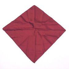 $95 BLOOMINGDALES Men's SOLID RED BURGENDY HANDKERCHIEF DRESS SUIT POCKET SQUARE