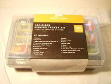 Fish Tackle Box Fishing Starter Kit 101 Piece Beginner Gear Set Trays New