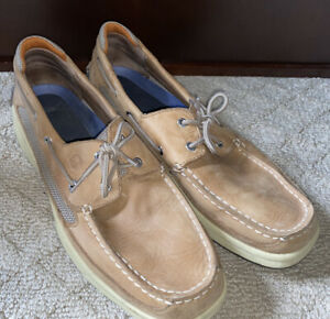 Men's Sperry Top Siders Slip On Shoes Size 14 Loafer Pre Owned EUC 0777924