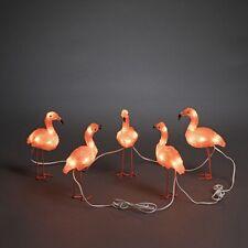 KONSTSMIDE LED Acryl Flamingos, 5er-Set, 40 LEDs bernstein, 24V Außen