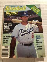 1979 Baseball Digest LOS ANGELES Dodgers STEVE GARVEY No Label A DODGER LEGEND