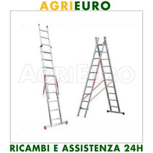 Scala alluminio telescopica Facal Genia 2 rampe 6 gradini mt. 3,22 - allungabile