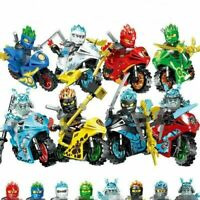 Ninjago Ninja Lot 8 Figuries Blocs Ninja motos Hero Kai Jay Cole Zane Nya Armes