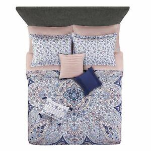 Mainstays Gypsy Medallion 8-Piece Bed in a Bag Bedding Set w/BONUS Sheet Set + P