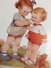1925 Mabel Lucie Attwell Children Teddy Bear Doll Vintage Print Ad Hovis