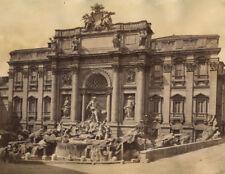 TREVI FOUNTAIN, ROME, ITALY. ALBUMEN 1880s.