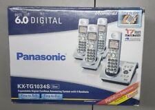Panasonic KX-TG1034PK 4 Handsets Single Line Cordless Phone w/ Answering System