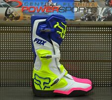 Fox Racing Mens Navy White Pink Comp 8 Racing MX Moto Boots SIZE 12 16451-045-12
