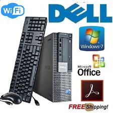 Dell Windows 7 Pro Desktop PC Computer Core 2 vPro 3.0GHz 8Gb 500Gb DVD WiFi