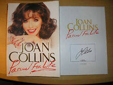 JOAN COLLINS -  PASSION FOR LIFE  1st/1st  HB/DJ. 2013  SIGNED