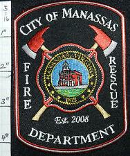 VIRGINIA, MANASSAS FIRE RESCUE PATCH