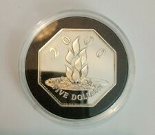 Unusual Royal Mint 925 Silver 8 Sided 5 Dollars - Millennium Masterpiece Coin