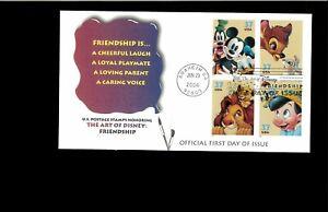 2004 FDC Art of Disney Friendship Anaheim CA