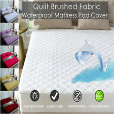 Waterproof  Queen King Size Bed Mattress Protector Bed Cover Soft Fitted Sheet