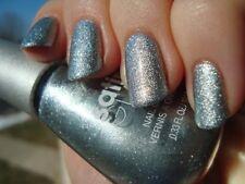 NEW! Sally Hansen Satin Glam nail polish METAL ICED ~ Blue-toned silver foil