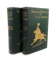PERSONAL MEMOIRS OF P.H. Sheridan 1888 1st Edition Civil War Two Volumes Set HC