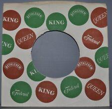 "1x 45 rpm KING dots company sleeve original record sleeves 7"""