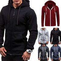 Mens Casual Slim Hoody Hoodie Boy Sweatshirt Sweater Jumper Pullover Hooded Coat