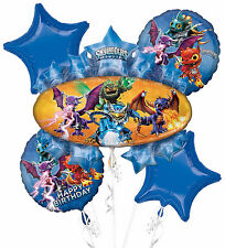 Skylanders Birthday Balloon Bouquet 5pc ~ Birthday Party Supplies / Decorations