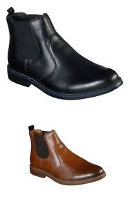 Skechers Bregman Morago In Black And Tan Mens Dealer Boots