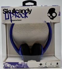 4 Lot SkullCandy Uprock Headphones On Ear Royal Blue Ear Phone Headset