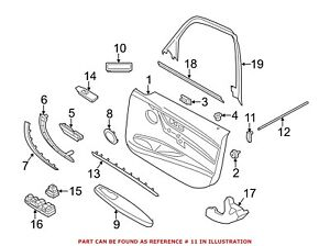 For BMW Genuine Courtesy Light Rear 63319350967