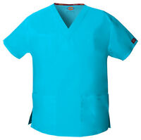 Turquoise Blue Dickies Scrubs EDS Signature V Neck Top 86706 TQWZ