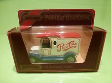 MATCHBOX YESTERYEAR Y-3 FORD MODEL T 1912 - PEPSI COLA - EXCELLENT IN BOX
