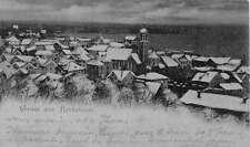 Rorschach Switzerland Greeting Birdseye View Of City Antique Postcard K13117