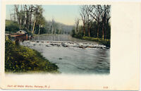 RAHWAY NJ – Dam at Water Works Waterworks – udb (pre 1908)