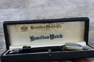 Hamilton watch co. art deco wrist watch with original case & paper work