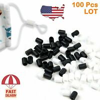 100PC Cord Locks For Face Mask Elastic Adjuster Silicone Stopper Buckle Fastener