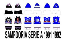SUBBUTEO SET DECAL HW SAMPDORIA SERIE A 1991 1992