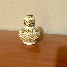 Vintage Mexican Oaxaca pottery miniature vase