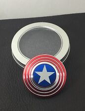 Quality NEW METAL Capitan America Fidget Spinner USA Seller